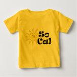 Camiseta del niño de la sol de SoCal Playera