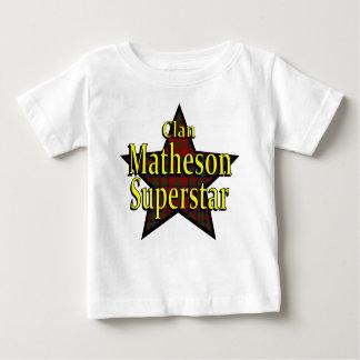 Camiseta del niño de la superestrella de Matheson