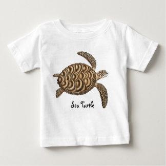 Camiseta del niño de la tortuga de mar playera