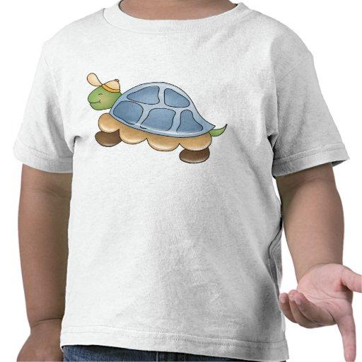 Camiseta del niño de la tortuga del dibujo animado