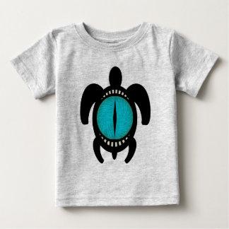 Camiseta del niño de la tortuga del ojo de gato