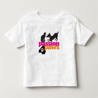 Camiseta del niño de las patas de la pasión 4 playera