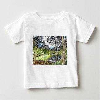 Camiseta del niño de las reflexiones del río playeras