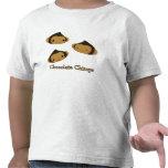 Camiseta del niño de los chimpancés del chocolate