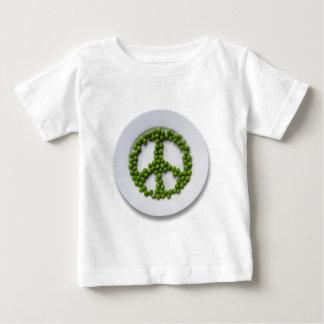 Camiseta del niño de los guisantes de la paz