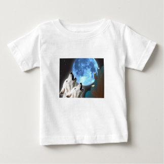 Camiseta del niño de los lobos de la luna azul