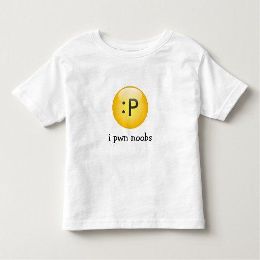 camiseta del niño de los noobs del pwn i