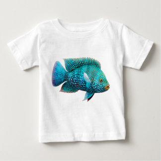 Camiseta del niño de los pescados de Cichlid de