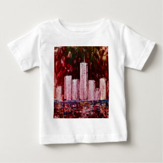 Camiseta del niño de los rascacielos de Nueva York