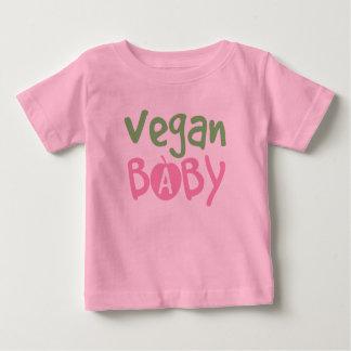 Camiseta del niño de los rosas bebés del vegano playera