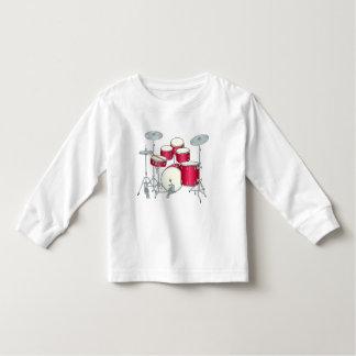Camiseta del niño de los tambores rojos