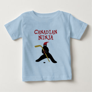 Camiseta del niño de Ninja del canadiense Playera Para Bebé