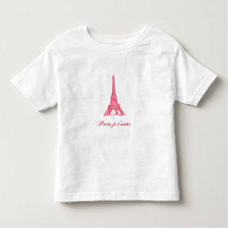 Camiseta del niño de París Playera