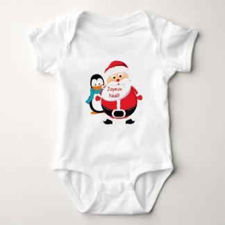 Camiseta del niño de Père Noël y de Manchot Papá Camisas