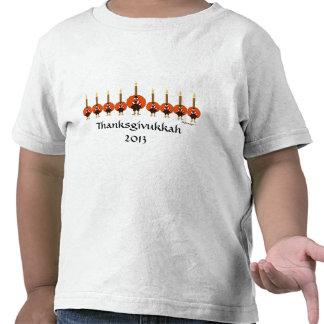 Camiseta del niño de Thanksgivukkah