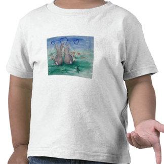 Camiseta del niño del aceo de Lovin del conejito