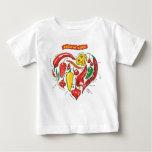 Camiseta del niño del amor de Burnin Playeras