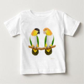 Camiseta del niño del amor del loro del caique playeras