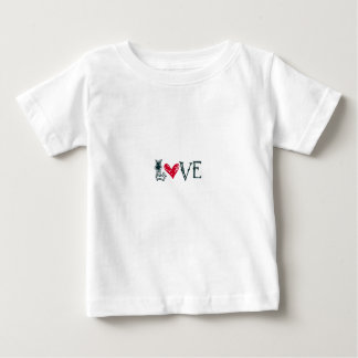 Camiseta del niño del amor playeras