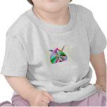 Camiseta del niño del bebé del corazón del arco ir