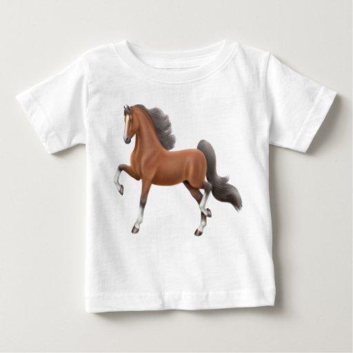 Camiseta del niño del caballo de Saddlebred Remeras