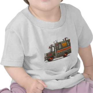 Camiseta del niño del camión de la seguridad de pa