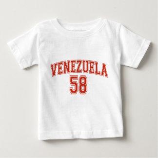 Camiseta del niño del código de país de Venezuela Playera Para Bebé