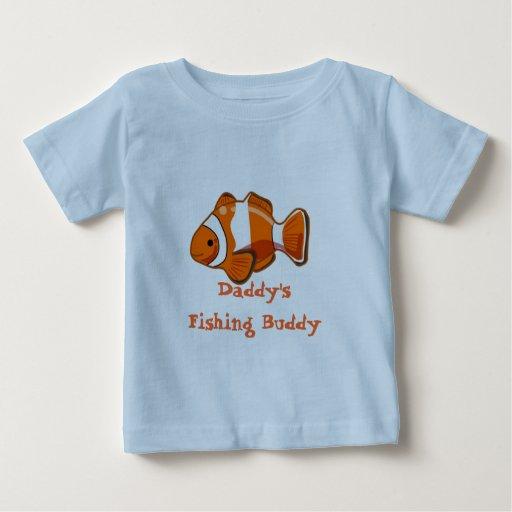 Camiseta del niño del compinche de la pesca del playera