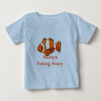 Camiseta del niño del compinche de la pesca del playeras