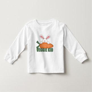 Camiseta del niño del conejo del niño del Veggie Playeras