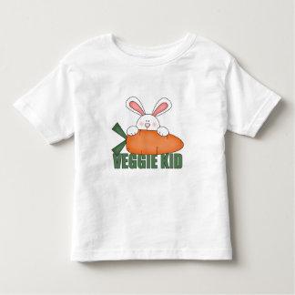 Camiseta del niño del conejo del niño del Veggie Remera