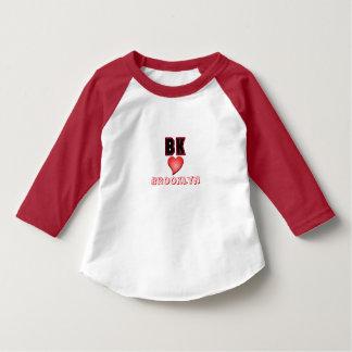 Camiseta del niño del corazón de BK Brooklyn