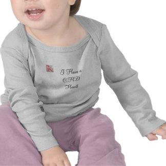camiseta del niño del corazón del chd