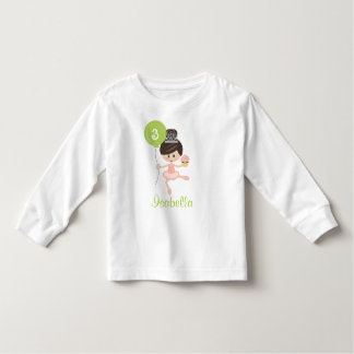 Camiseta del niño del cumpleaños de la bailarina