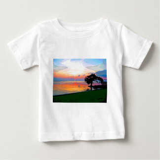 Camiseta del niño del derramamiento de Sun