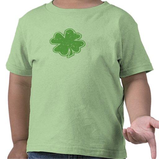 Camiseta del niño del día de St Patrick del trébol