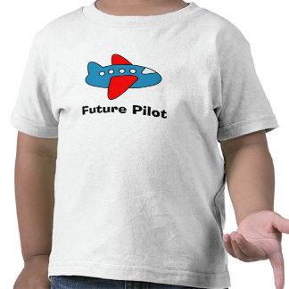 Camiseta del niño del dibujo animado del aeroplano