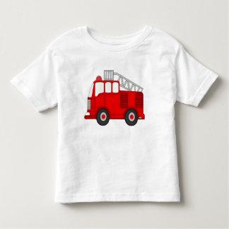 Camiseta del niño del Firetruck del niño