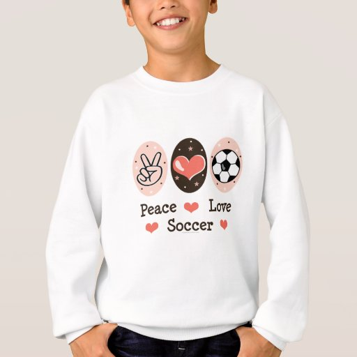 Camiseta del niño del fútbol del amor de la paz