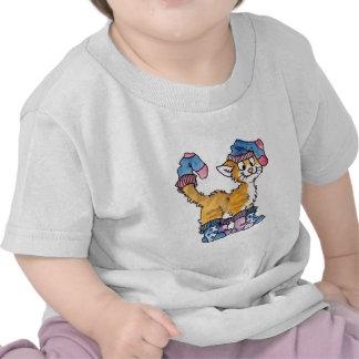 Camiseta del niño del gatito del calcetín