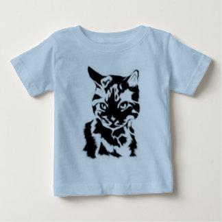 Camiseta del niño del gato camisas