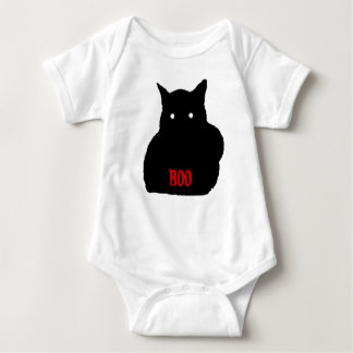 Camiseta del niño del gato negro