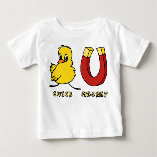 Camiseta del niño del imán del polluelo playera
