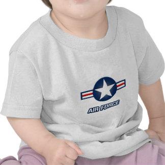 Camiseta del niño del logotipo de la fuerza aérea