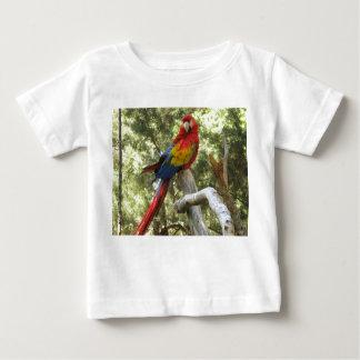Camiseta del niño del loro del Macaw Playera