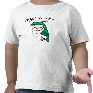Camiseta del niño del navidad T-Rex-Mas