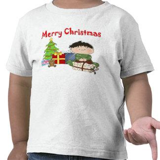 Camiseta del niño del niño pequeño del navidad