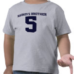 Camiseta del niño del número de Brother
