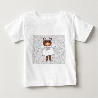 camiseta del niño del oso de la novia playeras
