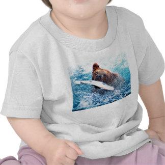 Camiseta del niño del oso grizzly
